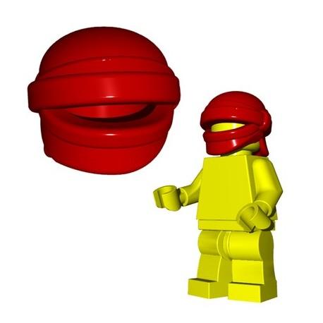 Lego Accessoires Minifig Custom Brick Warriors - Head Wrap (Dark Red)