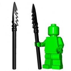 Lego Accessoires Minifig Custom BrickWarriors - Lance en Os (Noir)
