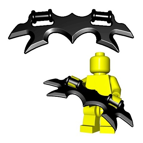 Lego Accessoires Minifig Custom BrickWarriors - Wing Blade (Noir)