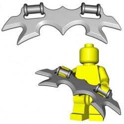Lego Accessoires Minifig Custom BrickWarriors - Wing Blade (Steel)