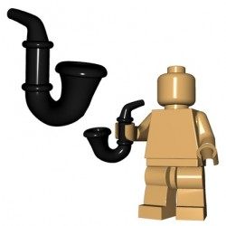 Lego Accessoires Minifig Custom Brick Warriors - Gentleman's Pipe (Noir)
