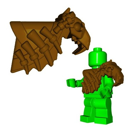 Lego Accessoires Minifig Custom Brick Warriors - Armure Sabertooth (Marron)
