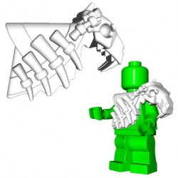 Lego Accessoires Minifig Custom Brick Warriors - Armure Sabertooth (Blanc)