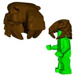 Lego Accessoires Minifig Custom Brick Warriors - Sabertooth Helm (Marron)