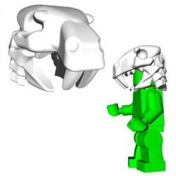 Lego Accessoires Minifig Custom Brick Warriors - Sabertooth Helm (Blanc)