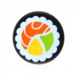 Lego - Black Tile Round 1x1 - Sushi