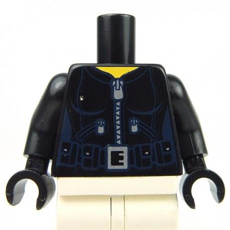 Lego Accessoires Minifig - Torse féminin - Combinaison noire