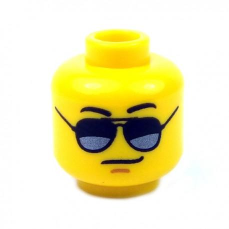 Lego Accessoires Minifig - Tête masculine jaune, 73