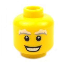 Lego Accessoires Minifig - Tête masculine jaune, 74