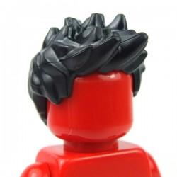 Lego Accessoires Minifig - Cheveux en l'air (Noir)