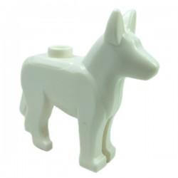 Lego - White Dog Alsatian / German Shepherd