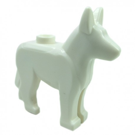 Lego Accessoires Minifig - Chien Berger Allemand (Blanc)