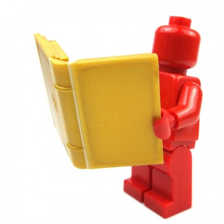 Lego Minifig Accessoires Livre Pearl Gold