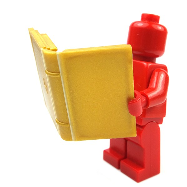 LEGO - Pearl Gold Minifigure Utensil Book with Diary /& Lock Pattern Sticker