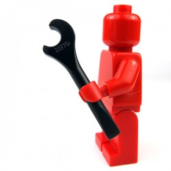 Lego - Black Minifig, Utensil Tool Spanner Wrench Screwdriver