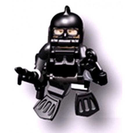 Accessoires Lego Minifigure custom Si-Dan Toys - Underwater Demolition TM Seals (Noir)