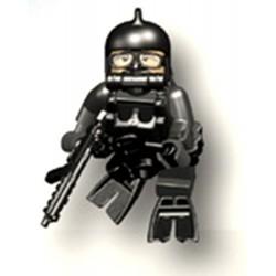 Accessoires Lego Minifigure custom Si-Dan Toys - Underwater Demolition TM Seals 03 (Noir)