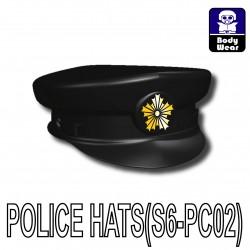 Si-Dan Toys - Police Hat S6 Badge (Black)