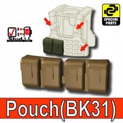 Accessoires Lego Minifigure custom Si-Dan Toys - Block Pouch BK31 (Deep Bronze Brown)