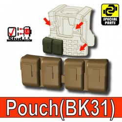 Block Pouch BK31 (Deep Bronze Brown)