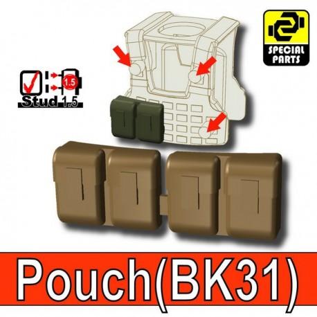 Block Pouch BK31 (Deep Bronze Brown)