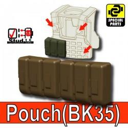 Accessoires Lego Minifigure custom Si-Dan Toys - Pouch BK35 (Deep Bronze Brown)