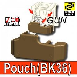 Accessoires Lego Minifigure custom Si-Dan Toys - Block Pouch BK36 (Deep Bronze Brown)