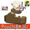 Block Pouch BK36 (Deep Bronze Brown)