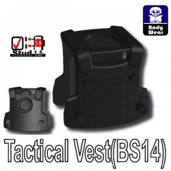 Dark Tan B20 Tactical Vest for LEGO army military brick minifigures