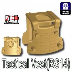 Accessoires Lego Minifigure custom Si-Dan Toys - Tactical Vest BS14 (Beige foncé)