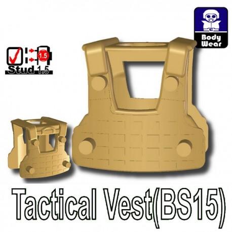 Accessoires Lego Minifigure custom Si-Dan Toys - Tactical Vest BS15 (Beige foncé)