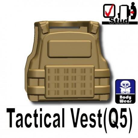 Accessoires Lego Minifigure custom Si-Dan Toys - Tactical Vest Q5 (Beige foncé)