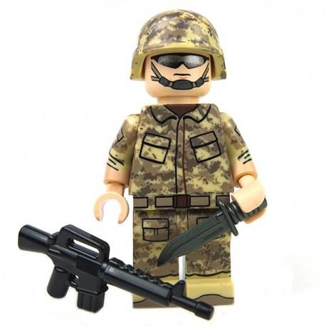 Lego Custom eclipseGRAFX - Minifig LTE Digital Camo Series - Desert Camo