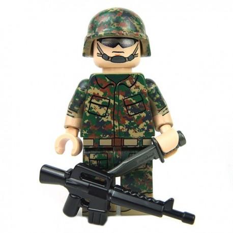 Lego Custom eclipseGRAFX - Minifig LTE Digital Camo Series - MARPAT Camo