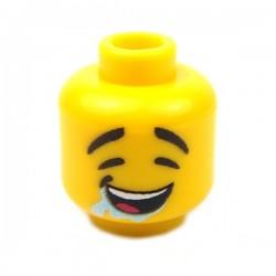 Lego Accessoires Minifigure Custom eclipseGRAFX - Tête, Bave (Jaune)