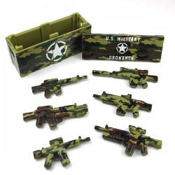 Lego Accessoires Minifigure Custom eclipseGRAFX - Woodland Camo Crate