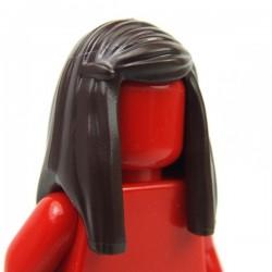 Lego Accessoires Minifigure - Cheveux Longs lissés (Dark Brown)