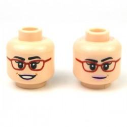 Lego Minifigure - Tête féminine chair 13 (double visage)