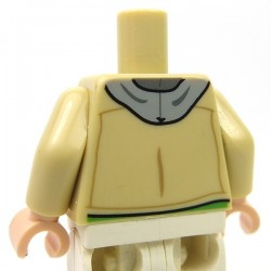 Lego Accessoires Minifigure - Torse - Veste sur Sweat-shirt à capuche (Beige)