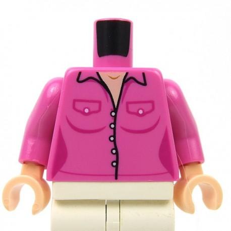 Lego Accessoires Minifigure - Torse - Chemise (Dark Pink)
