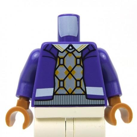 Lego Accessoires Minifigure - Torse Veste sur pull (Dark Purple)
