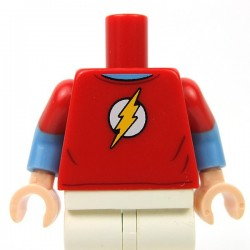 Lego - Red Torso Red T-Shirt with Yellow Lightning Bolt Short Sleeves
