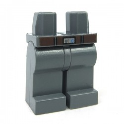 Lego - Dark Bluish Gray Hips & Legs with Dark Brown Belt & Silver Buckle