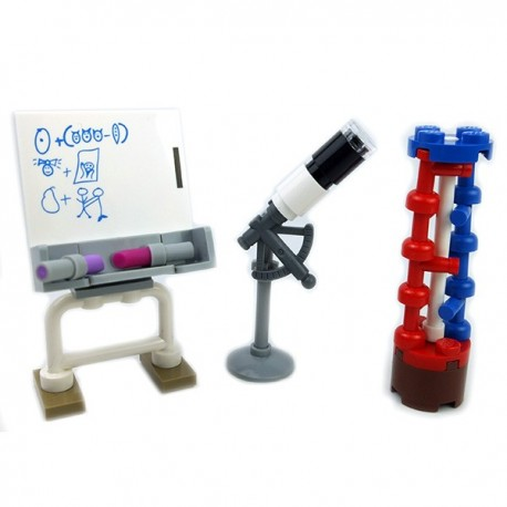 Lego Mini-set Minifigure - Tableau, Arbre ADN, Telescope
