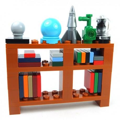 Lego Mini-set Minifigure - Bibliothèque et ses accessoires