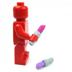 Lego Accessoires Minifigure - Feutre ou Maquillage (Magenta + Rouge)