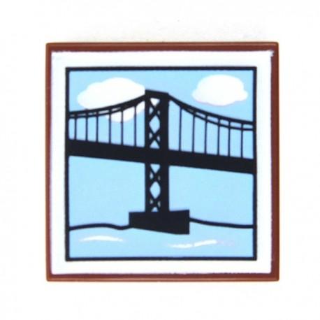 Lego Accessoires Minifig Pont Suspendu - Tile 2x2 (Reddish Brown)