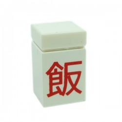 Lego Accessoires Minifigure Boite de Riz (Blanc)