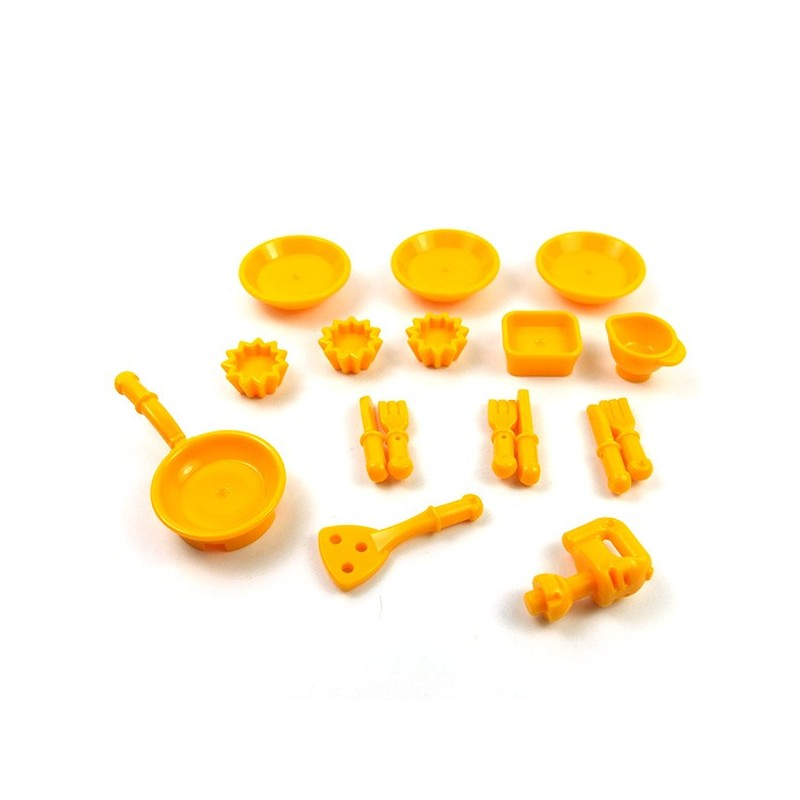 Utensil Cup Yellow 10 NEW LEGO Minifig