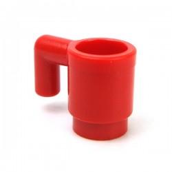 Lego Accessoires Minifigure Tasse (Rouge)